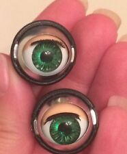 Doll Sleep Moving Eyes 14mm Green Vinyl Doll Eyes Replacement Repair Fix