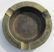 Old Ashtray Adv. LEE VOGEL IMPLEMENT CO. & ALLIS CHALMERS TRACTORS Rock Port MO