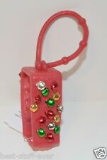BATH BODY WORKS RED GREEN  JINGLE BELLS POCKETBAC HOLDER HAND GEL SANITIZER NEW