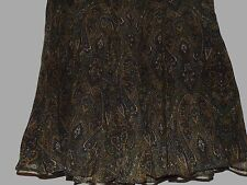 NEW WITH TAGS JONES NEW YORK BROWN PAISLEY WOOL SKIRT SIZE 12
