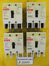 Eaton GDB-D 14k Circuit Breaker 15 Amp Lot of 4 Used Working