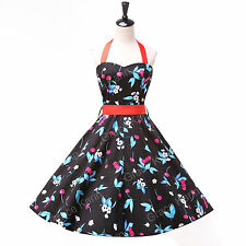 Plus Size 50s Retro Rockabilly Cocktail Party POLKA DOT Swing Pin Up Prom Dress