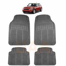 ALL WEATHER GRAY RUBBER FLOOR MATS SET for MINI COOPER COUNTRYMAN