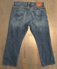 MENS AG ADRIANO GOLDSCHMIED JEANS PROTEGE STRAIGHT LEG JEANS 34 INSEAM 27 BLUE