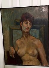 Naked Woman Vintage Oil Painting