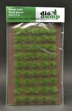 DioDump DD011-A  6mm realistic grass tufts DARK GREEN 45 pcs diorama scenery