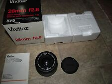 Vivitar 28mm F2.8 Wide Angle Lens for Canon FD - Boxed Exc Cond