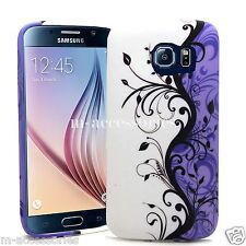 LILAC FLORAL SILICONE/GEL CASE COVER SKIN FOR SAMSUNG GALAXY S6 SM-G920 + SP