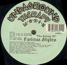 FURIOUS STYLES - The Return - 2001 Undaground Therapy Muzik - Usa - UTM 821