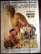 Affiche cinéma originale L'Homme de marbre  format 120 x 160  Andrzej Wajda