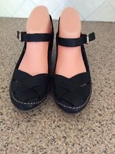 GREAT CLARKS BLACK LEATHER SANDALS UK SIZE 6 NWOB TRIED ON ONLY