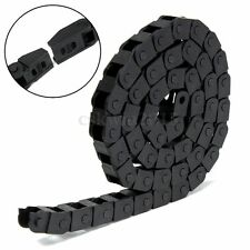 """1M 1000mm 40"""" Black Long Nylon Cable Drag Chain Wire Carrier R10 10mm x 10mm"""