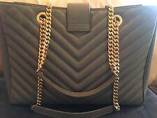 Yves Saint Laurent Classic Large Monogram Satchel Shoulder Bag