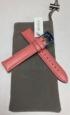 Michele 18mm Coral Pink Lizard & Leather Watch Band Bracelet MS18AA030654 NWT