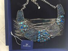 "NIB $410 AUTHENTIC SWAROVSKI BLUE ""AMAZING"" ALL AROUND NECKLACE ITEM 5037442"