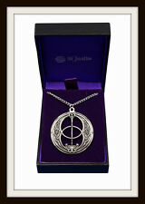 GLASTONBURY HOLY GRAIL CHALICE WELL  ~ PEWTER PENDANT NECKLACE ~ FROM ST. JUSTIN