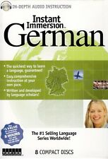 Instant Immersion GERMAN Language (8 Audio CDs) listen & learn in your car
