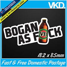 Bogan As FCK Sticker/ Decal - Drift Car Turbo Aussie XXXX VB Beer 4x4 Fast Vinyl