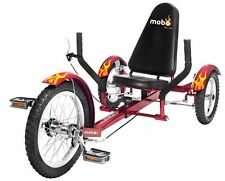 Mobo Triton Ultimate Three Wheeled Cruiser Kids Ride On Red Trike New
