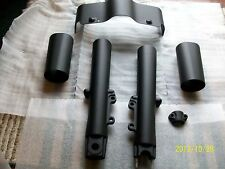 Harley fork legs-sliders-skirt-touring 2000-2013-matte-denim black powder coat