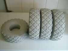 SET OF FOUR PUNCTURE PROOF 4.10/3.50-4 MOBILITY SCOOTER TYRES. BRAND NEW GREY.