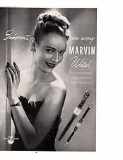 1946 Marvin Swiss Watch - Performance and Beauty Original Vintage Print Ad