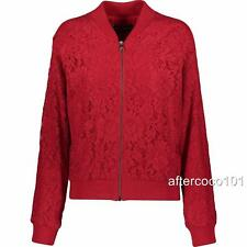 Dolce Gabbana Red Lace Bomber Jacket UK10 IT42 RRP1580GBP, NEW