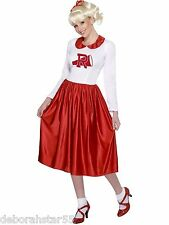 Smiffys Oficial Vintage Cheerleader Sandy Grasa Fancy Dress Costume Talla 12-14