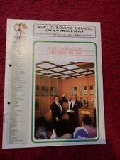 BOXING PROGRAMME - WBC MONTHLY 1984