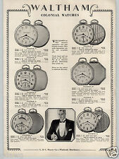 1930 PAPER AD Waltham Colonial Pocket Watch 100 75 60