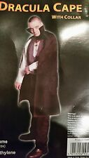 Vampire Dracula Cape 43 Inches Long With Collar Adult Size For Halloween.