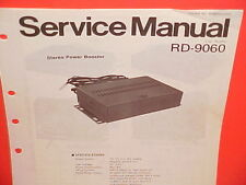 1977-1979 PANASONIC STEREO POWER BOOSTER FACTORY SERVICE MANUAL MODEL RD-9060