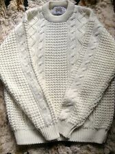 Taylor & Butler Chunky Cable Knitted Crew Neck Knitwear Jumper Unisex Vintage M
