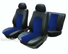 6 PCS UNIVERSAL BLUE & BLACK FULL CAR SEAT COVERS SET & HEADREST PROTECTORS