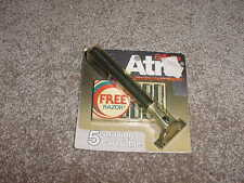 VINTAGE GILLETTE ATRA RAZOR PIVOTING WITH 5 SHAVING CARTRIDGES NOS 1980s