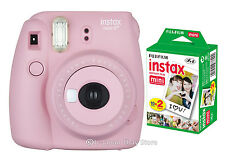 20 Films + 2016 Fuji Instax Mini 8 Plus Self-shot Mirror Instant Fujifilm Pink