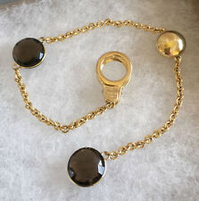 CHIMENTO - SOLID 18K GOLD - SIGILLI BRACELET WITH SMOKY TOPAZ - CLIP ON CLASP