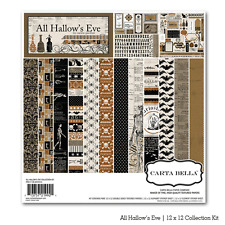 """CARTA BELLA """"ALL HALLOW'S EVE"""" 12X12 PAPER   HALLOWEEN SCARY SCRAPJACK'S PLACE"""
