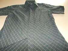BEN SHERMAN -BLACK SHORT SLEEVE SHIRT- 3/L-CASUAL-SEE DESC FOR SIZING