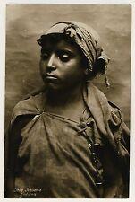 Libia Italiana BEDUINA / BEDUIN GIRL Italian Libya * Vintage 20s Ethnic Photo PC
