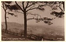 View from Lympne Church Nr Hythe unused RP old pc Savage