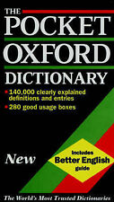 OUP The Pocket Oxford Dictionary of Current English Very Good Book