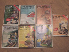 THE MOTHER EARTH NEWS - 7  issues - Numbers 36 to 42 (1974 and 1975) very good