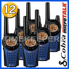 12km COBRA MT975 Walkie Talkie 2 Two way PMR Radio 6 Pack for Security & Leisure