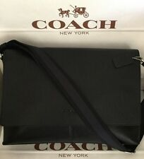 Coach Mens Sullivan Messenger Black Leather Crossbody Shoulder Bag F71726 NWT