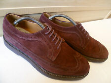 Paul Smith purple suede brogue UK 7 41 mens wingtip oxford lace up Made in Italy