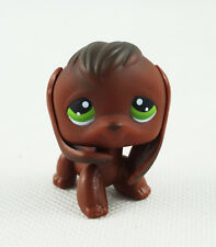 Littlest Pet Shop LPS Toys #77 Green Eyes Chocolate Brown Puppy Beagle Dog