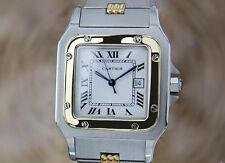 Cartier Santos Galbee Swiss Made Mens 18k Gold & Stainless Steel Automatic Watch