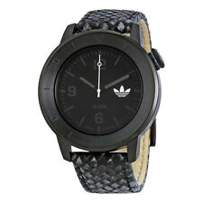 Adidas Manchester Black Dial Leather Mens Watch ADH3044