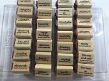 AMAZING TO ZANY by Stampin Up 2006   Rubber Stamp 56 Words EUC